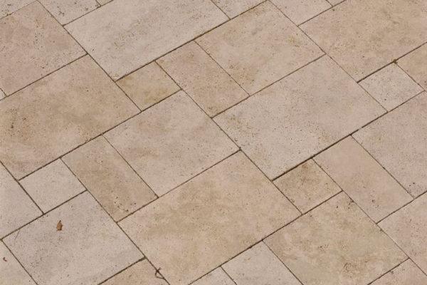 Naturstein Bodenplatten Romischer Verband Troja Hell Aussenbereich