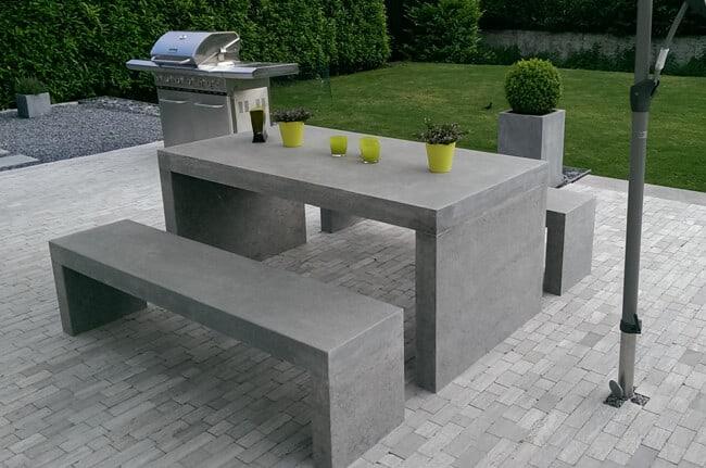 Gartenmöbel aus Naturstein