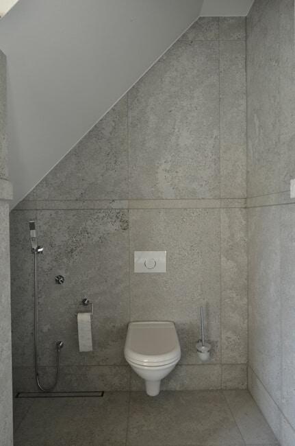 Toilettengestaltung mit Muschelkalk