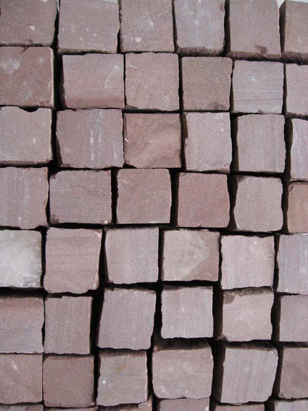 Quadratpflaster Sandstein rot