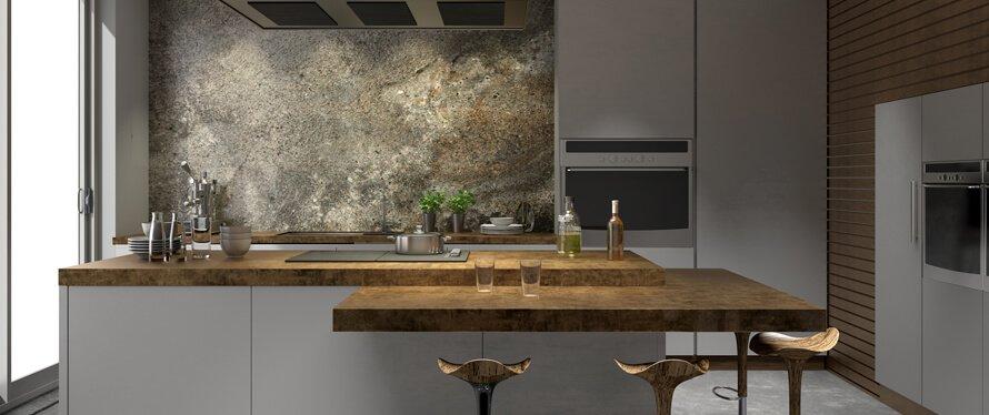 Naturstein Wandverkleidung in der Küche