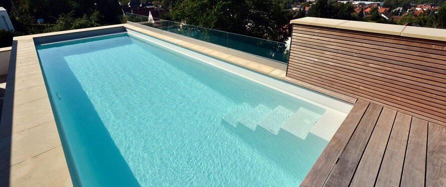 Pool bauen gemauertes Becken