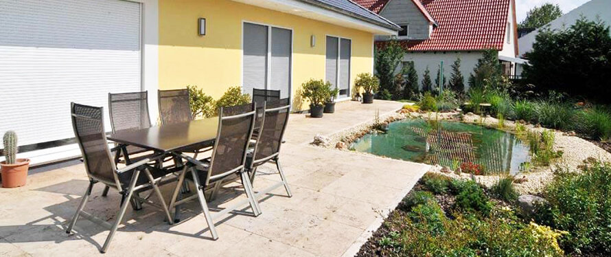 travertin terrassenplatten verlegen reinigen mehr ratgeber. Black Bedroom Furniture Sets. Home Design Ideas