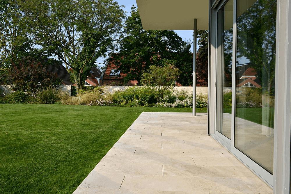 Extrem Travertin-Terrassenplatten richtig reinigen - wertvolle Tipps & Tricks HF17