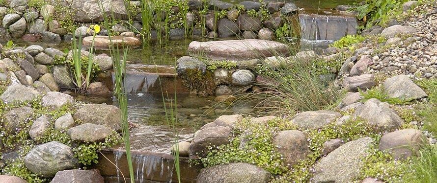 Bachlauf Im Garten Anlegen Selber Bauen Anleitung Mit Teich Co