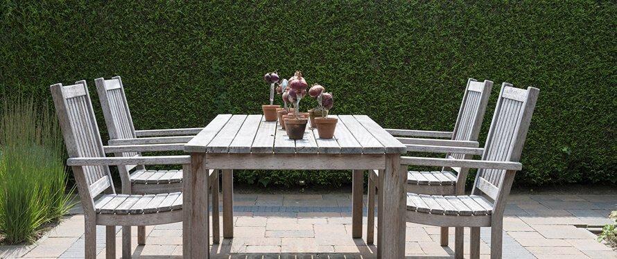 Hecke als Sichtschutz für die Terrasse