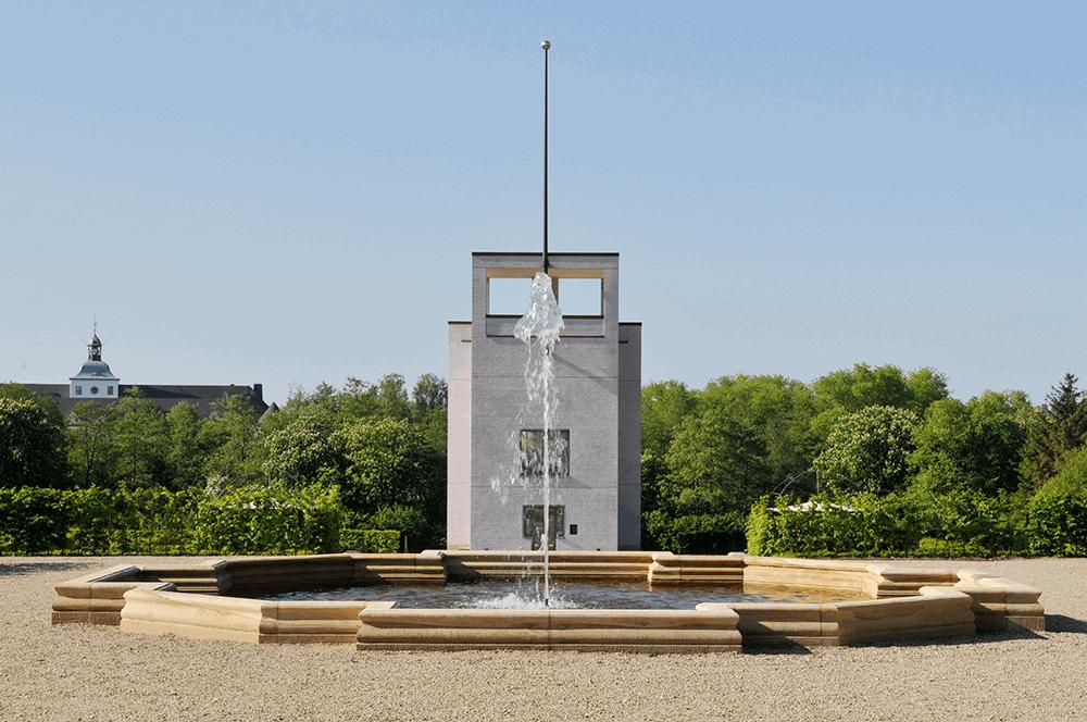 Springbrunnen aus Naturstein (Schloss Gottdorf)