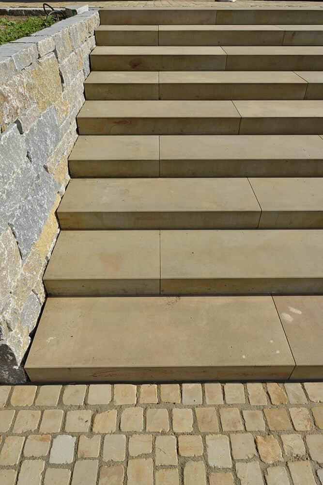 Treppe aus Sandstein