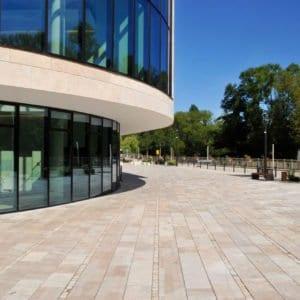 Bodenplatte Troja hell (Bahnen) für Außenbereiche