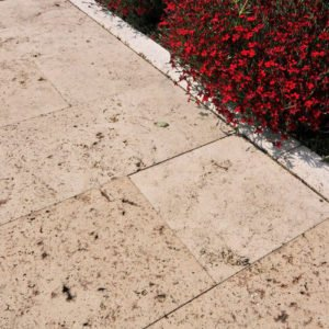 Terrassenplatte Travertin Troja (Bahnen)