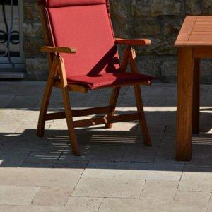 Terrassenplatten Travertin Troja hell (Römischer Verband)